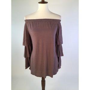 Soft Surroundings Blouse Top X-Small Gray B61-10Z